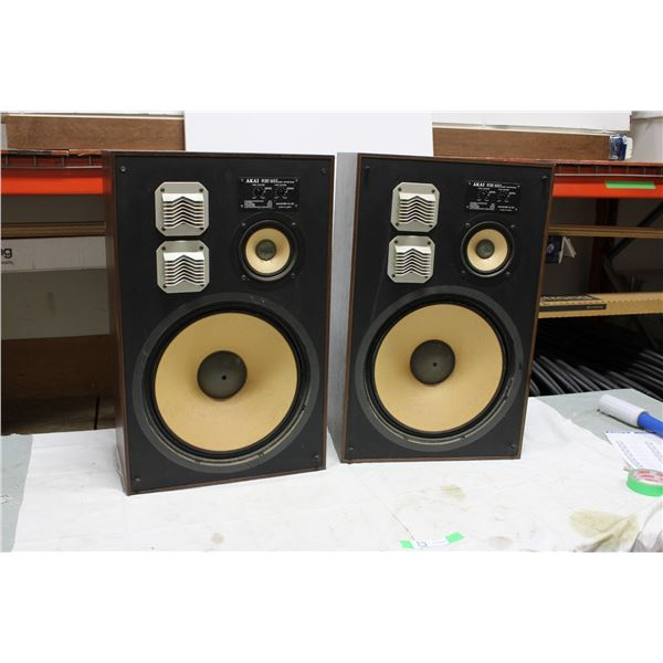 Set of Akai Japan SW-177 3-Way Stereo System Speakers