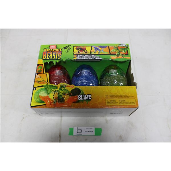 "New, Sealed Mega Construx ""Breakout Beasts"" Slime Egg Building Set"