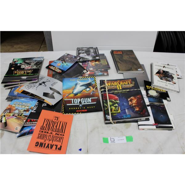 Huge Lot of PC Game Manuals & Guides