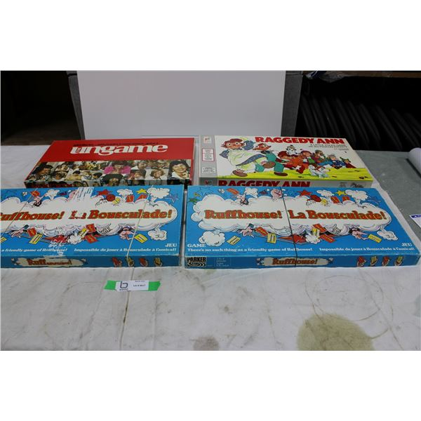 Lot of 4 Used, Complete Board Games