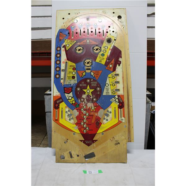 "Bally ""Supersonic"" Pinball Playfield - used"
