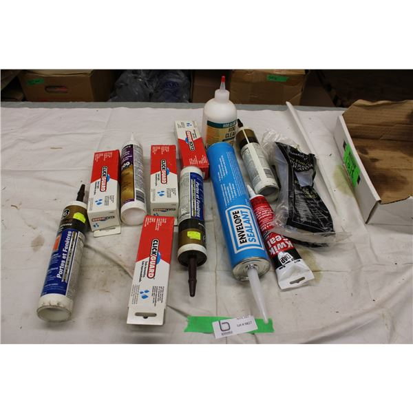 Box of Silicone and Glues