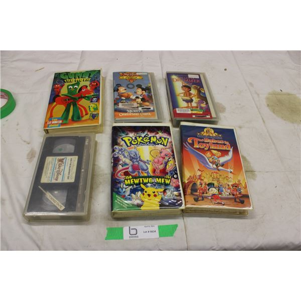 Lot of 6 VHS Movies