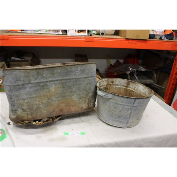 Galvanized Planters (Rough Shape)