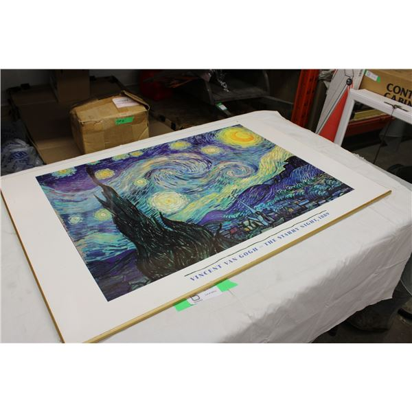 "Vincent Van Gogh Starry Night Picture 24"" x 36"""
