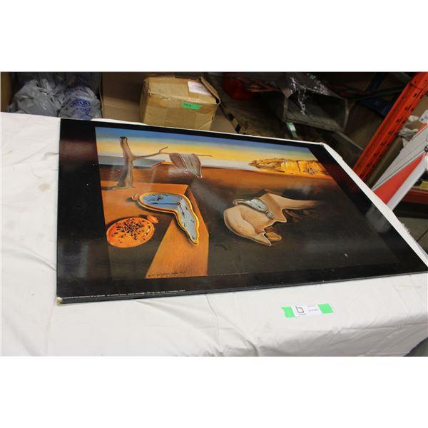 """1975 Salvador Dali Picture 24"""" x 36"""""""
