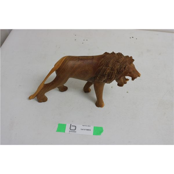 Wooden Lion Ornament