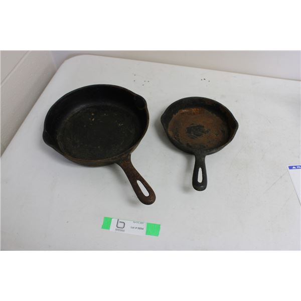 (2X THE MONEY) Cast Iron Frying Pans