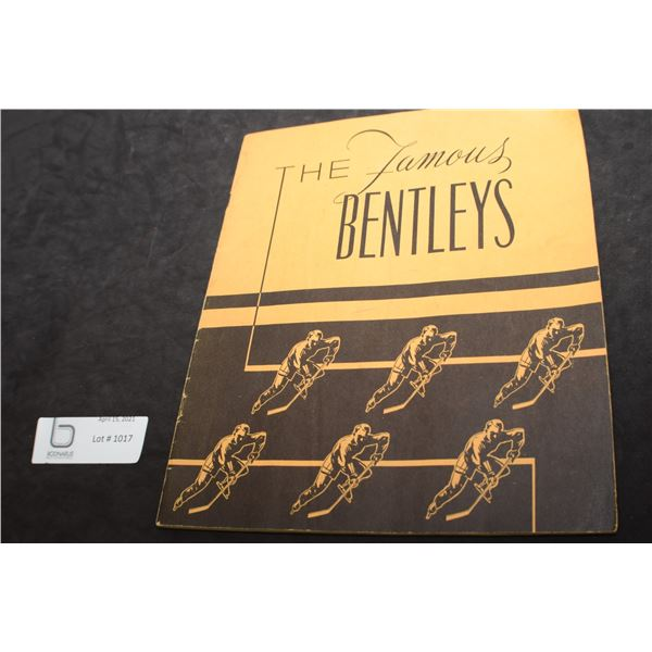 1947 THE BENTLEYS HOCKEY BOOKLET /// PRIDE OF DELISLE //SASKATOON QUAKERS NHL