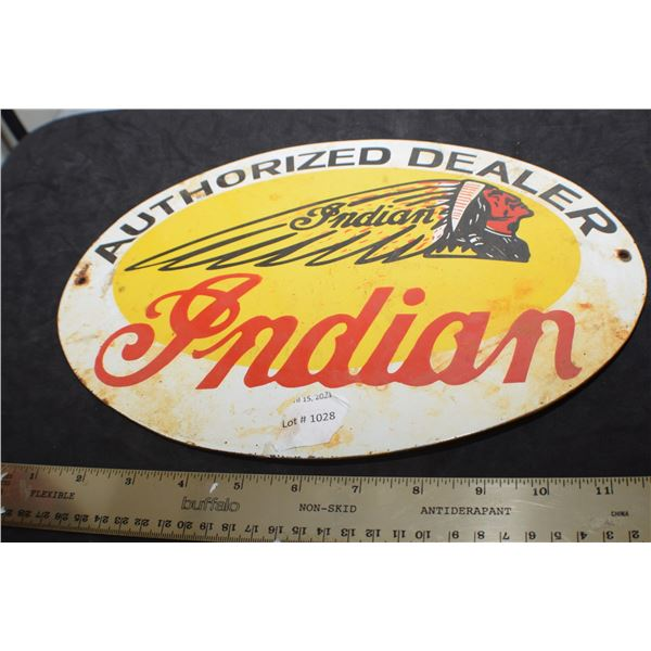 INDIAN MOTORCYCLE PORCELAIN SIGN
