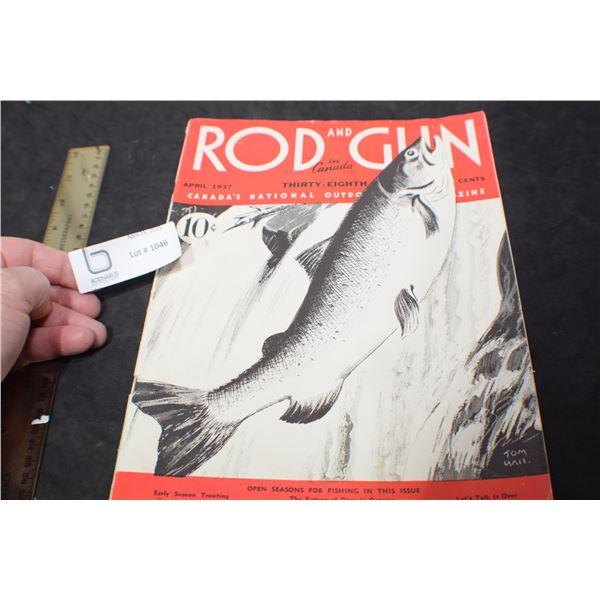 1937 ROD & GUN HUNTING MAGAZINE