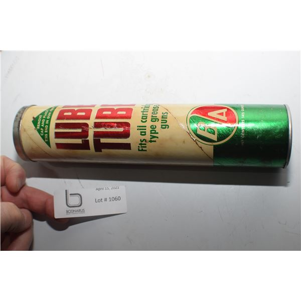 B/A BRITISH AMERICAN FULL RARE GREASE ADVERTISING TUBE