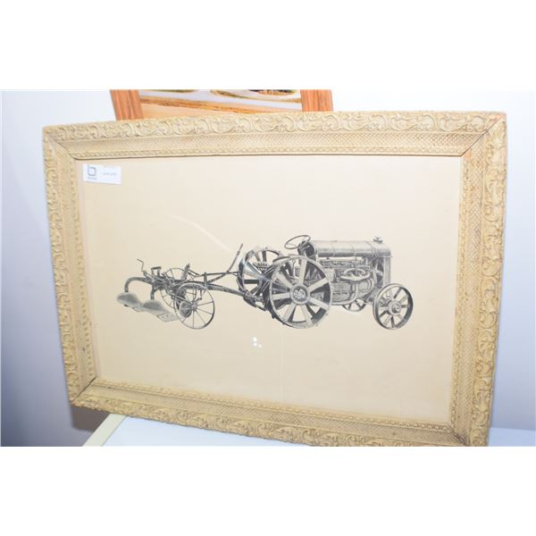 ARTISTS PROOF PRINT OF STEEL WHEEL FORDSON TRACTOR