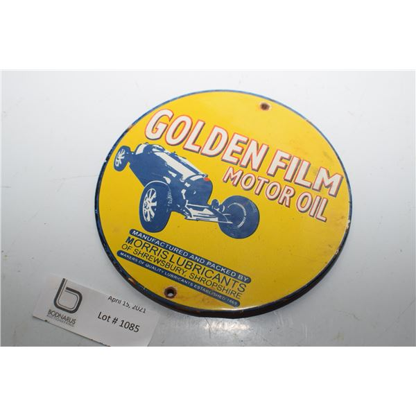 GOLDEN FILM MOTOR OIL PORCELAIN SIGN