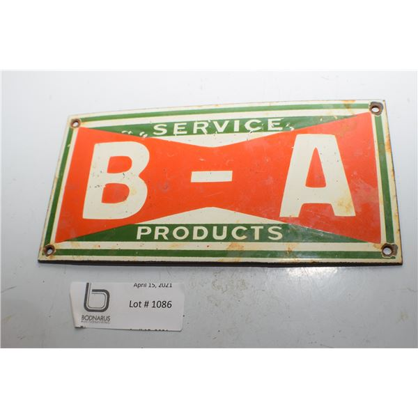 SMALL B/A BRITISH AMERICAN PORCELAIN SIGN