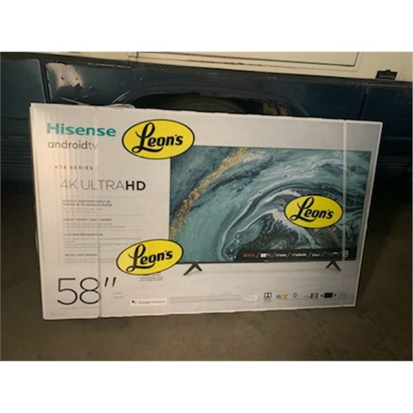 "Hisense Android TV 4KUltraHD 58"" TV NIB - Lakeland Snowmobile Club Fundraiser"