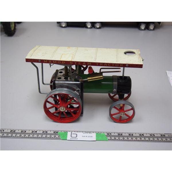 "Mamod Steam Tractor (needs repair) 9.5"" long"