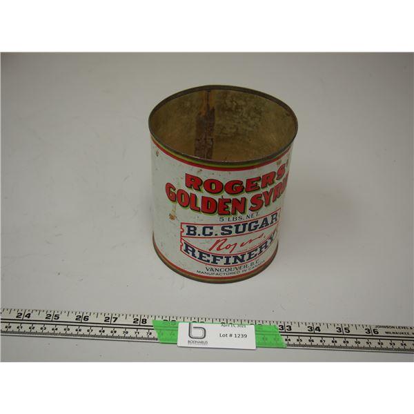 Vintage Rogers Syrup Tin 5lb (no lid)