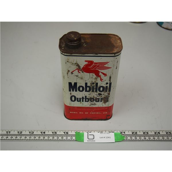 Mobiloil Outboard Oil Can One Quart