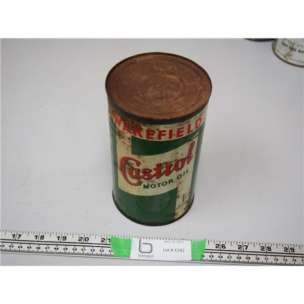 Wakefield Castrol Motor Oil Full One Imperial Quart Can