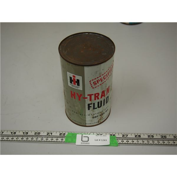 International Harvester Hy-Tran Fluid Full One Imperial Quart Can