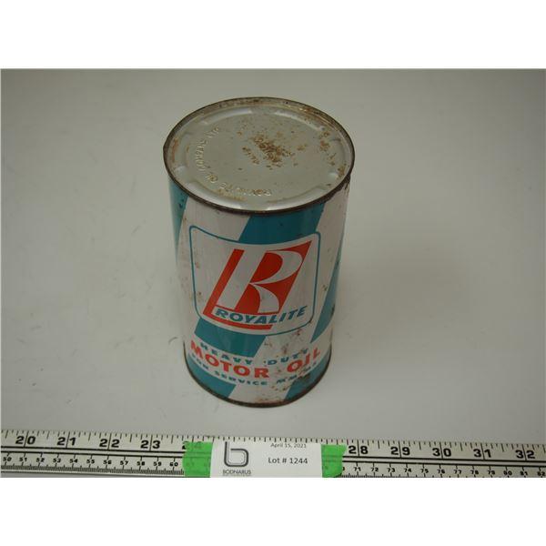 Royalite Heavy Duty Motor Oil Full One Imperial Quart Can