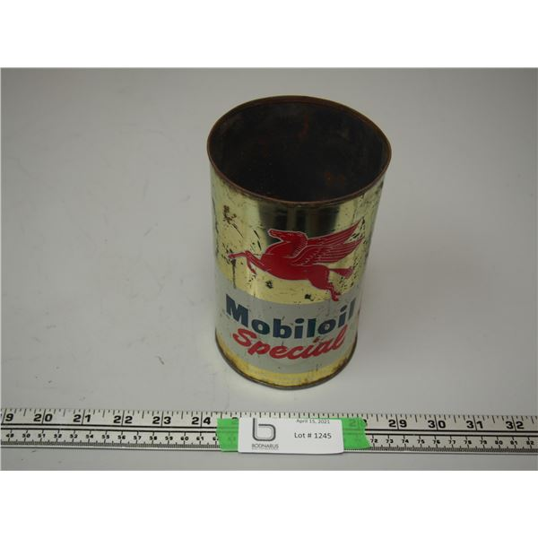 Mobiloil Special One Quart Can (no top)