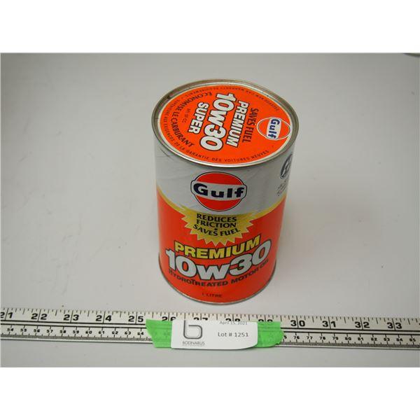 Gulf Premium 10W30 1 Litre Cardboard Can Full