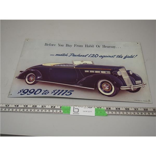 """Packard 120 Tin Sign (10"""" x 16"""")"""
