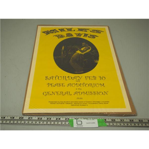 Miles Davis Concert Poster