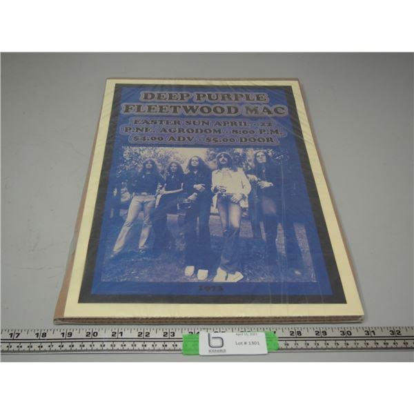 Deep Purple Fleetwood Mac Concert Poster 1973