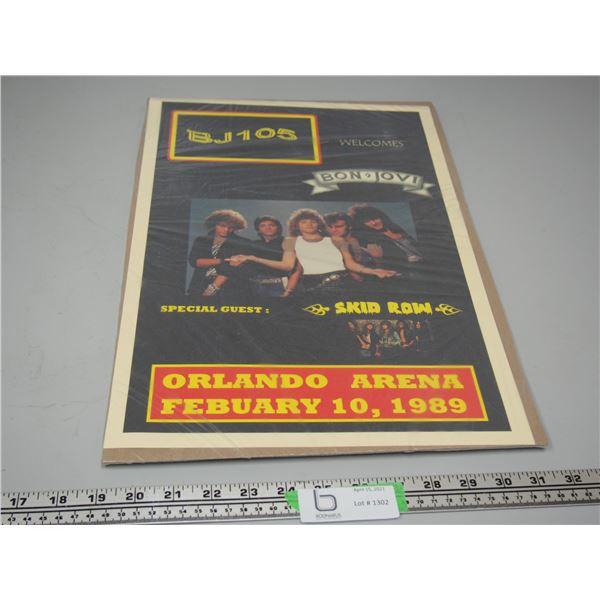 Bon Jovi Skid Row 1989 Concert Poster