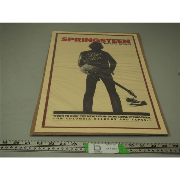 Springsteen Born to Run Concert Poster
