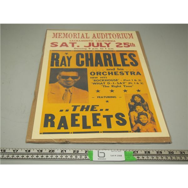 Ray Charles Concert Poster