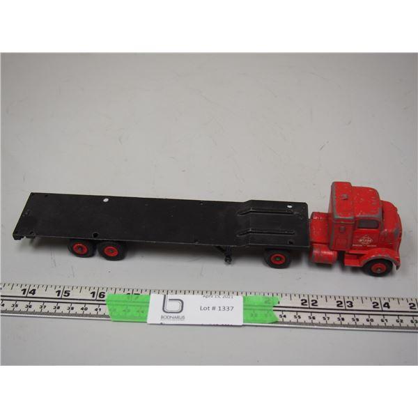 "Dinky Toy Flat Bed Trailer Hauler (11 1/4"" long)"