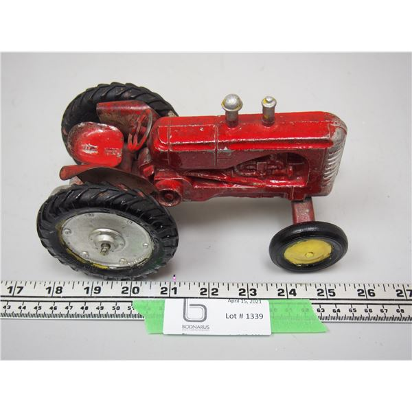 """Lincoln? Massey-Harris Toy Tractor (7 1/4"""" long)"""