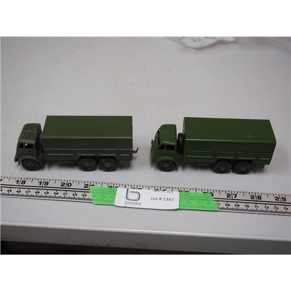 (2X THE MONEY) Dinky Toy Army Trucks (2)