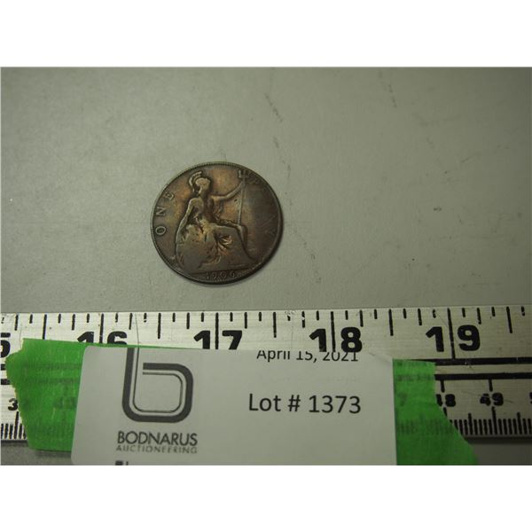 1906 1 cent copper penny