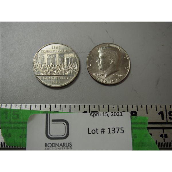 (2X THE MONEY) 1972 + 1968 Half Dollar