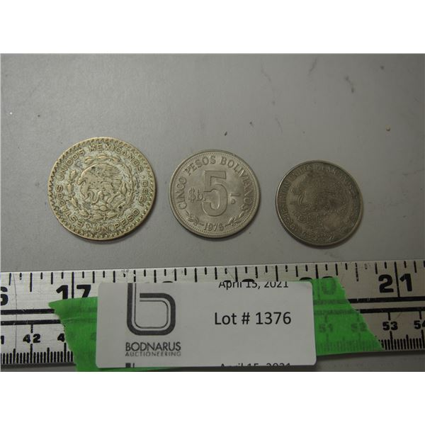 3 Coins Foreign Money