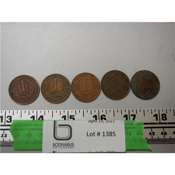 Copper Canadian 1 cent coins