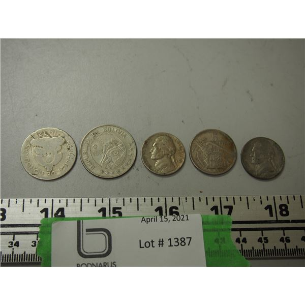 Mixed Lot of Foreign Money Coins