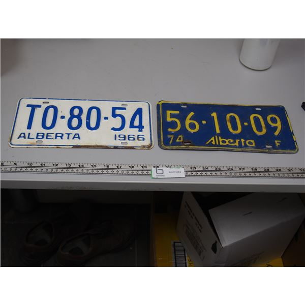 1966, 74 Alberta Licence Plates