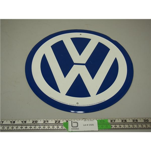 "VW Tin Sign (11 3/4"" in Diameter)"