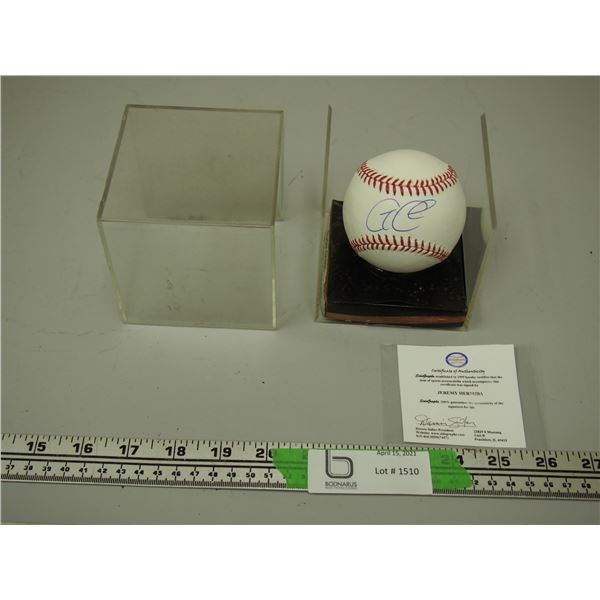 Sidegraphs Certified Autographed by Jeremy Hermida Rawling Autographed Baseball in Case