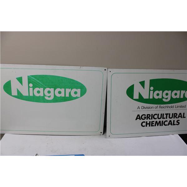 Niagara 2 Tin Signs (Aluminum?)