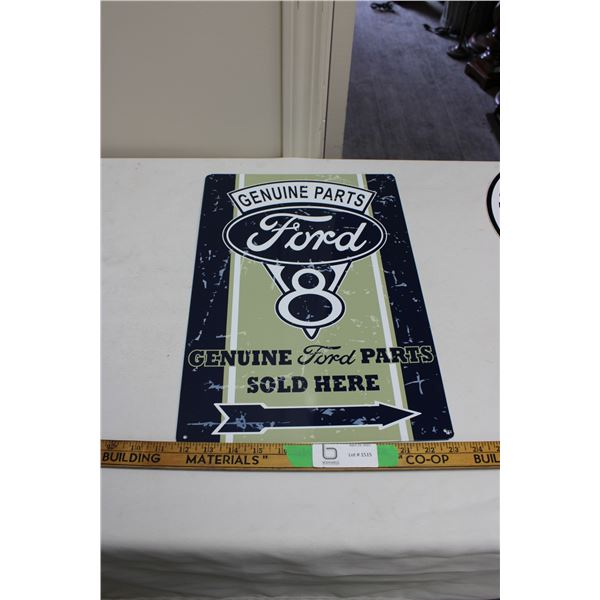 "Ford Genuine Parts Tin Sign 12"" x 18"""