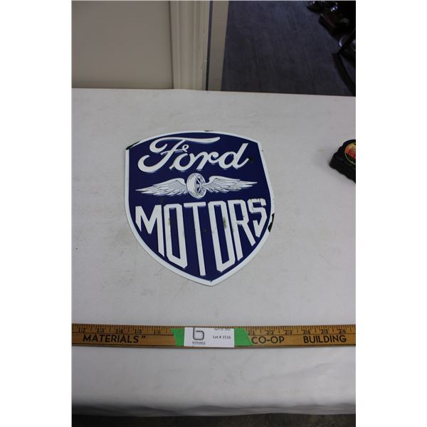 "Ford Motors Tin Sign 10"" x 12"""
