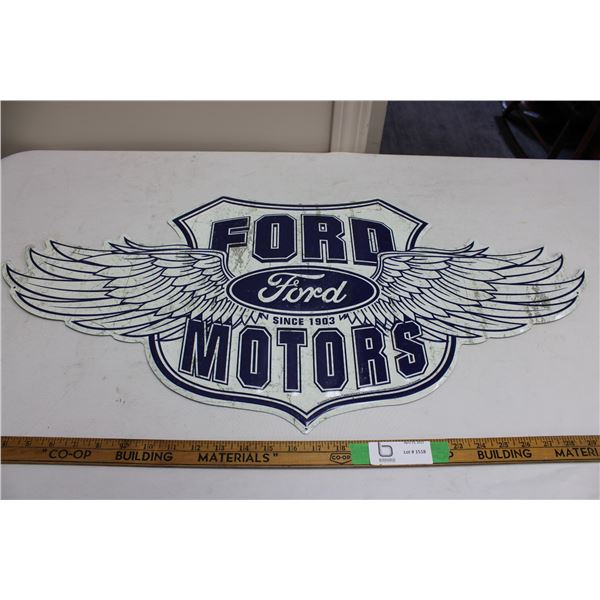 "Ford Motors Tin Sign 15"" x 32"""