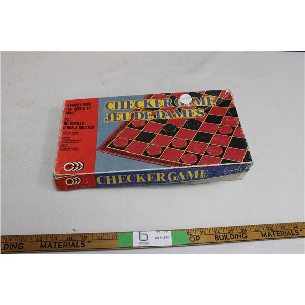 Vintage Checkers Game Complete
